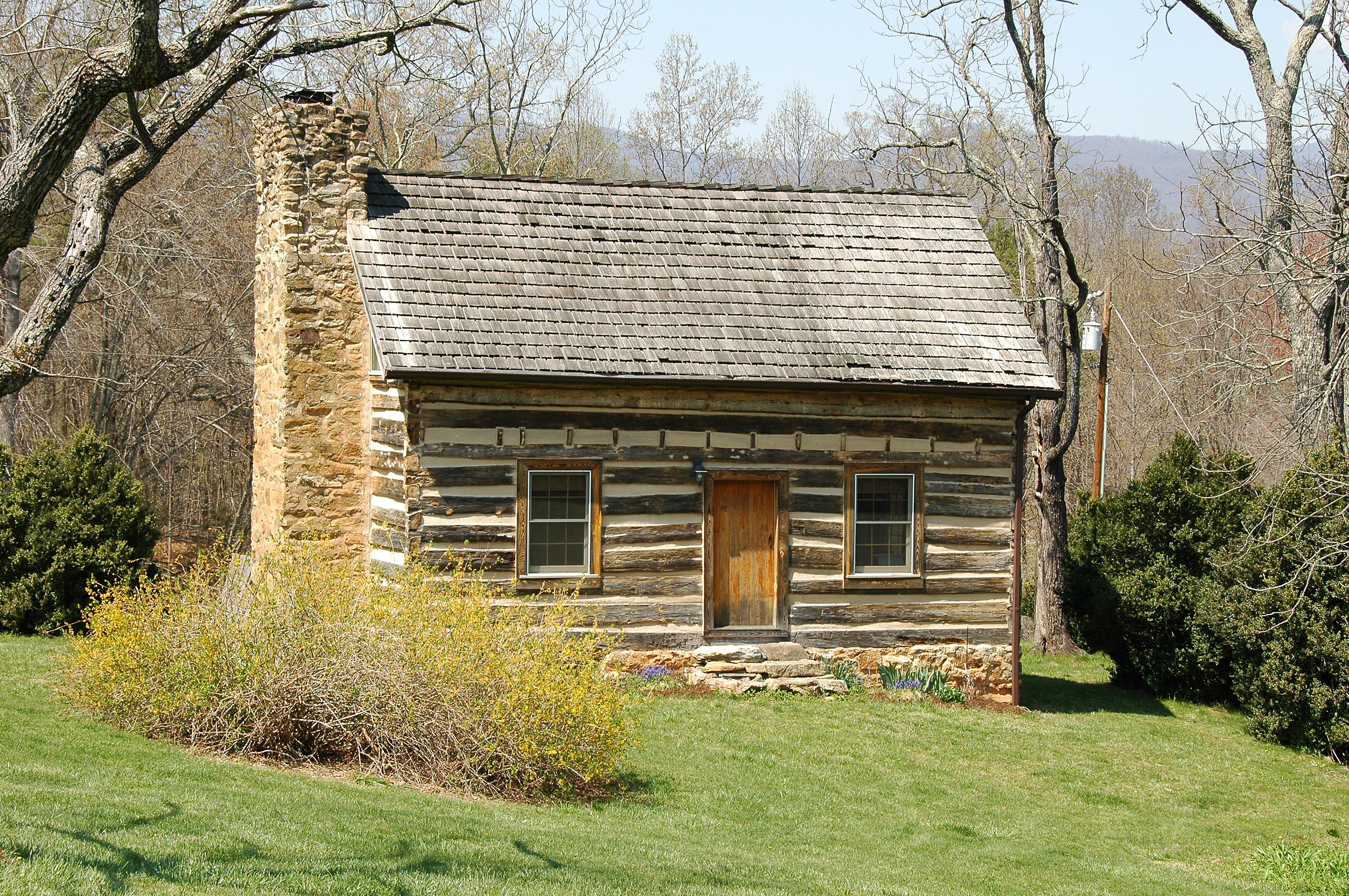 Marvelous photograph of Log Cabin with #947D37 color and 3008x2000 pixels