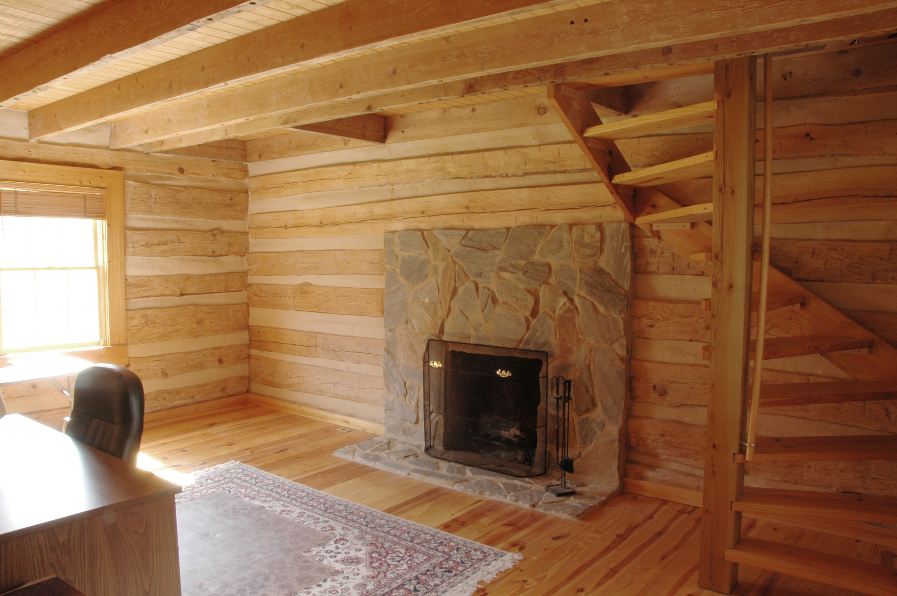 Modern Log Cabin Inside Interior Of Log Cabin. Full resolution  picture, nominally Width 3008 Height 2000 pixels, picture with #753D1C.